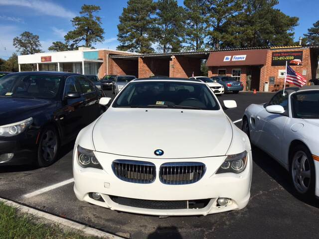 2004 BMW 6 Series for sale at Aiden Motor Company in Portsmouth VA