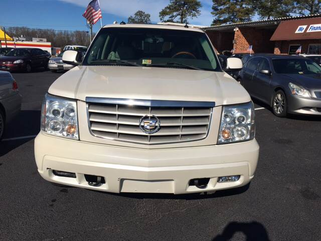 2003 Cadillac Escalade ESV for sale at Aiden Motor Company in Portsmouth VA