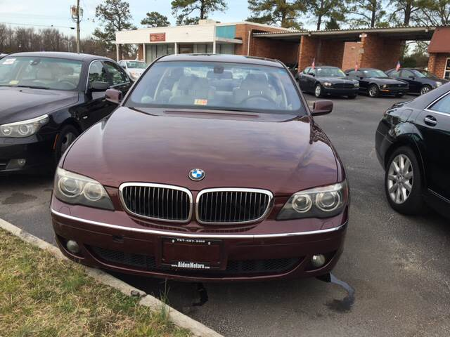 2006 BMW 7 Series for sale at Aiden Motor Company in Portsmouth VA