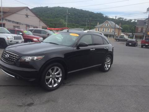 2008 Infiniti FX35 for sale at Mulligan's Auto Exchange LLC in Paxinos PA