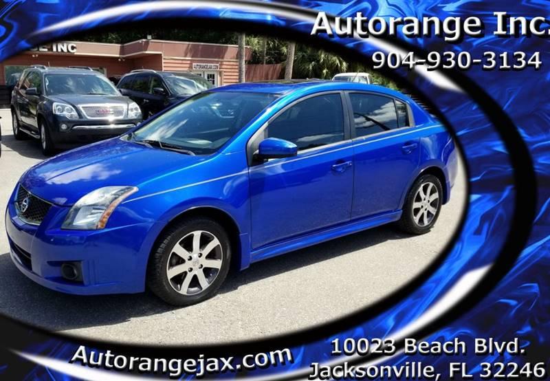 2012 Nissan Sentra 2.0 SL 4dr Sedan   Jacksonville FL