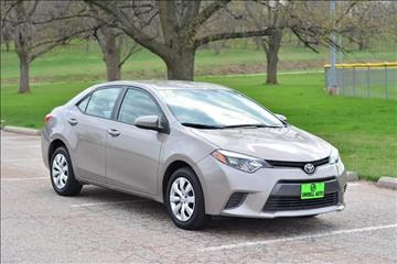 2015 Toyota Corolla for sale at UNISELL AUTO in Omaha NE
