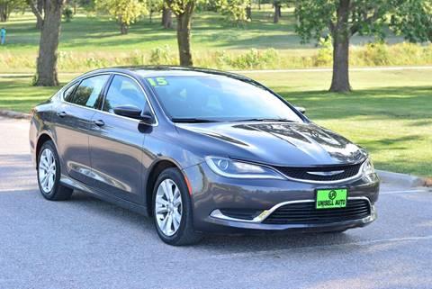 2015 Chrysler 200 for sale at UNISELL AUTO in Omaha NE