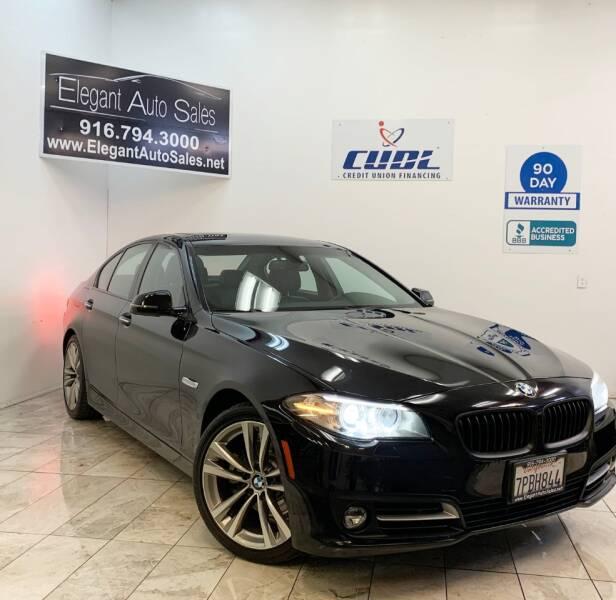 2016 BMW 5 Series for sale at Elegant Auto Sales in Rancho Cordova CA