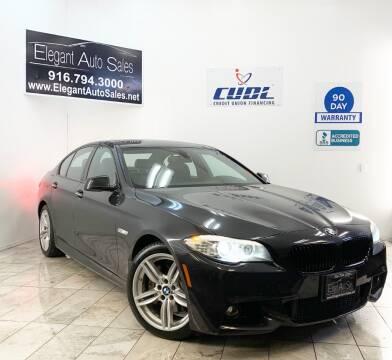 2012 BMW 5 Series for sale at Elegant Auto Sales in Rancho Cordova CA