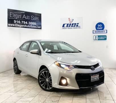 2014 Toyota Corolla for sale at Elegant Auto Sales in Rancho Cordova CA