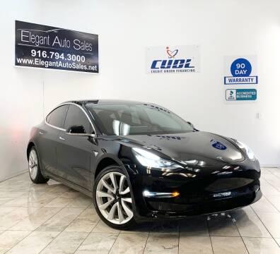 2018 Tesla Model 3 for sale at Elegant Auto Sales in Rancho Cordova CA