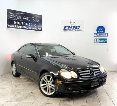 2007 Mercedes-Benz CLK for sale at Elegant Auto Sales in Rancho Cordova CA
