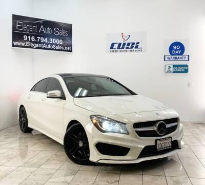 2014 Mercedes-Benz CLA for sale at Elegant Auto Sales in Rancho Cordova CA