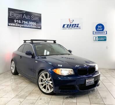 2012 BMW 1 Series for sale at Elegant Auto Sales in Rancho Cordova CA