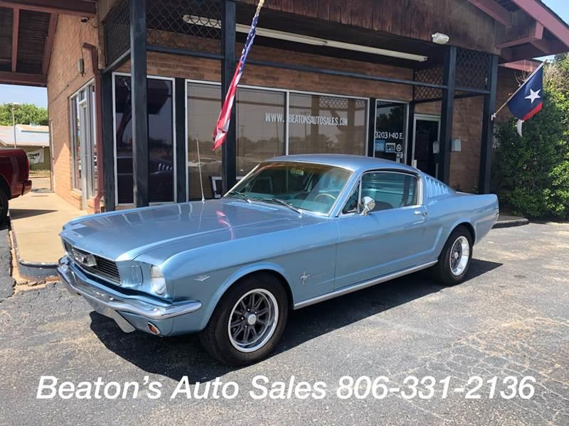 1966 Ford Mustang Fast Back 2+2 In Amarillo TX - Beaton's
