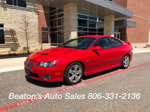 2006 Pontiac GTO for sale in Amarillo, TX