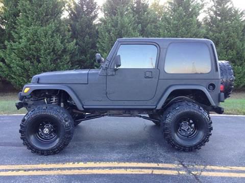 2001 Jeep Wrangler for sale at DLUX Motorsports in Fredericksburg VA