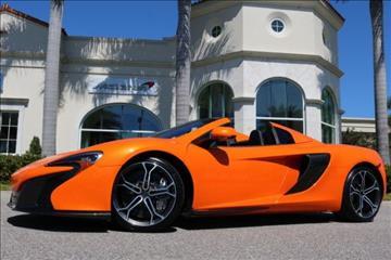 2015 McLaren 650S Spider for sale in Clearwater, FL