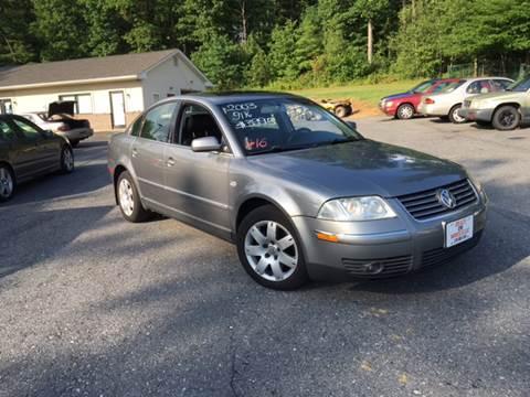 2003 Volkswagen Passat for sale at Deals On Wheels LLC in Saylorsburg PA