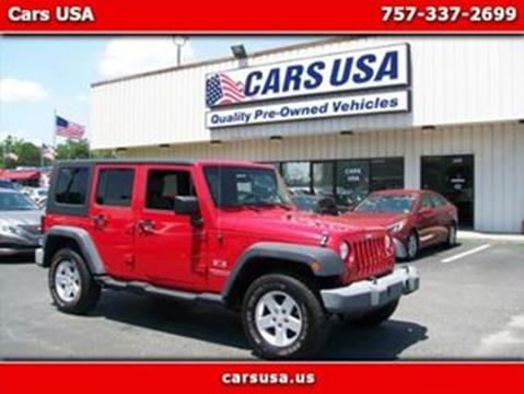 2009 Jeep Wrangler Unlimited for sale in Virginia Beach, VA