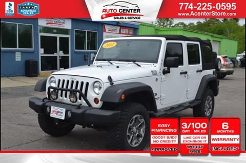 2012 Jeep Wrangler Unlimited for sale in West Bridgewater, MA