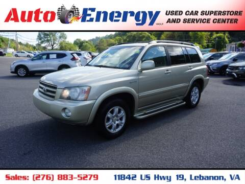 2002 Toyota Highlander for sale at Auto Energy in Lebanon VA