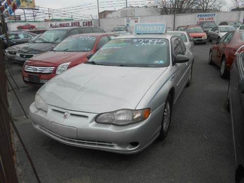 2000 Chevrolet Monte Carlo for sale at Nicks Auto Sales - $3000 AND UNDER in Philadelphia PA