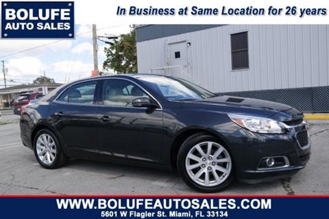 2014 Chevrolet Malibu for sale at Bolufe Auto Sales in Miami FL