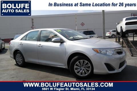 2014 Toyota Camry for sale at Bolufe Auto Sales in Miami FL
