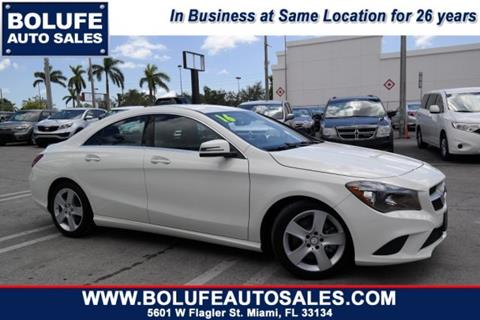 2016 Mercedes-Benz CLA for sale at Bolufe Auto Sales in Miami FL