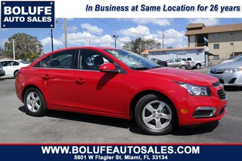 2016 Chevrolet Cruze Limited for sale at Bolufe Auto Sales in Miami FL
