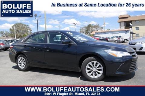 2016 Toyota Camry for sale at Bolufe Auto Sales in Miami FL