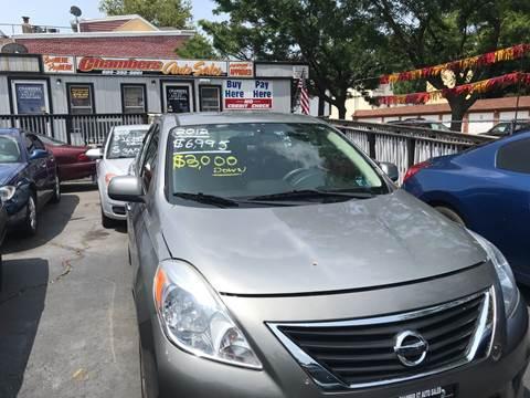 2012 Nissan Versa for sale at Chambers Auto Sales LLC in Trenton NJ