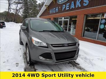 2014 Ford Escape for sale in Elizabethtown, NY