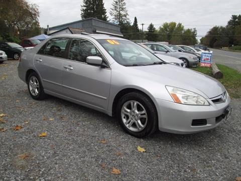 2006 Honda Accord for sale at Saratoga Motors in Gansevoort NY