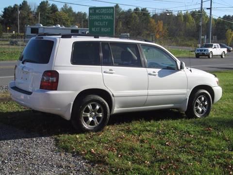 2004 Toyota Highlander for sale at Saratoga Motors in Gansevoort NY