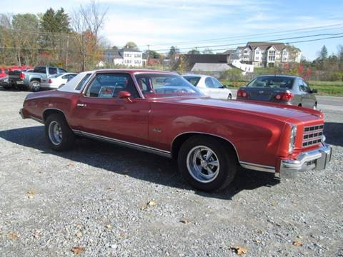 1977 Chevrolet Monte Carlo for sale at Saratoga Motors in Gansevoort NY