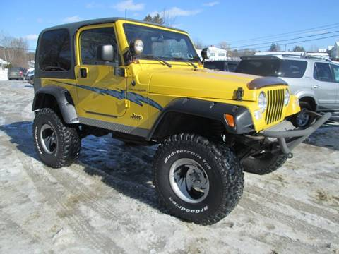 2000 Jeep Wrangler for sale at Saratoga Motors in Gansevoort NY