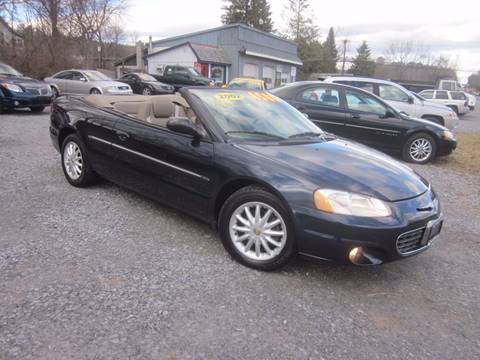 2002 Chrysler Sebring for sale at Saratoga Motors in Gansevoort NY
