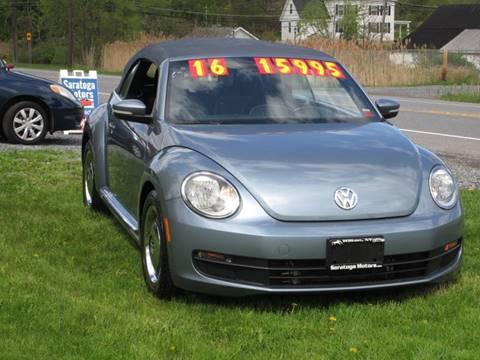 2016 Volkswagen Beetle for sale at Saratoga Motors in Gansevoort NY