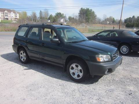 2004 Subaru Forester for sale at Saratoga Motors in Gansevoort NY