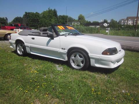 1989 Ford Mustang for sale at Saratoga Motors in Gansevoort NY
