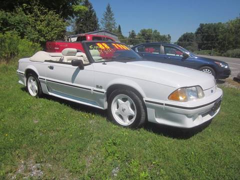 1988 Ford Mustang for sale at Saratoga Motors in Gansevoort NY