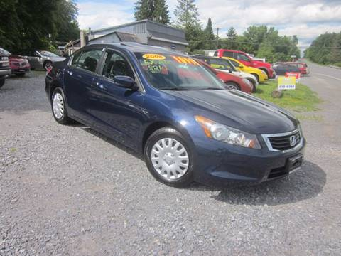 2008 Honda Accord for sale at Saratoga Motors in Gansevoort NY