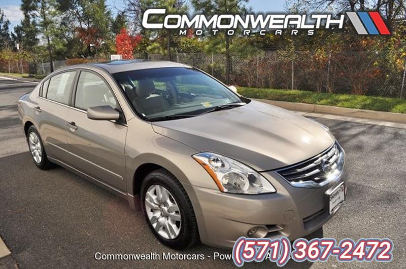 2012 Nissan Altima For Sale At Commonwealth Motorcars Sales And Service, In  Chantilly VA