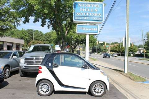 2014 Smart fortwo for sale at North Hills Motors in Raleigh NC