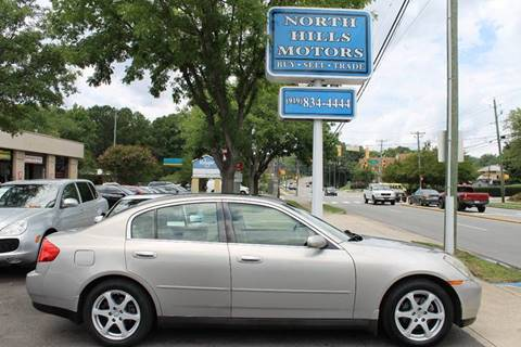 2004 Infiniti G35 for sale at North Hills Motors in Raleigh NC