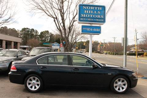 2006 BMW 7 Series For Sale In Raleigh NC