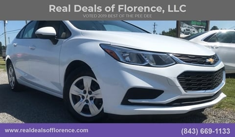 2016 Chevrolet Cruze for sale at Real Deals of Florence, LLC in Effingham SC