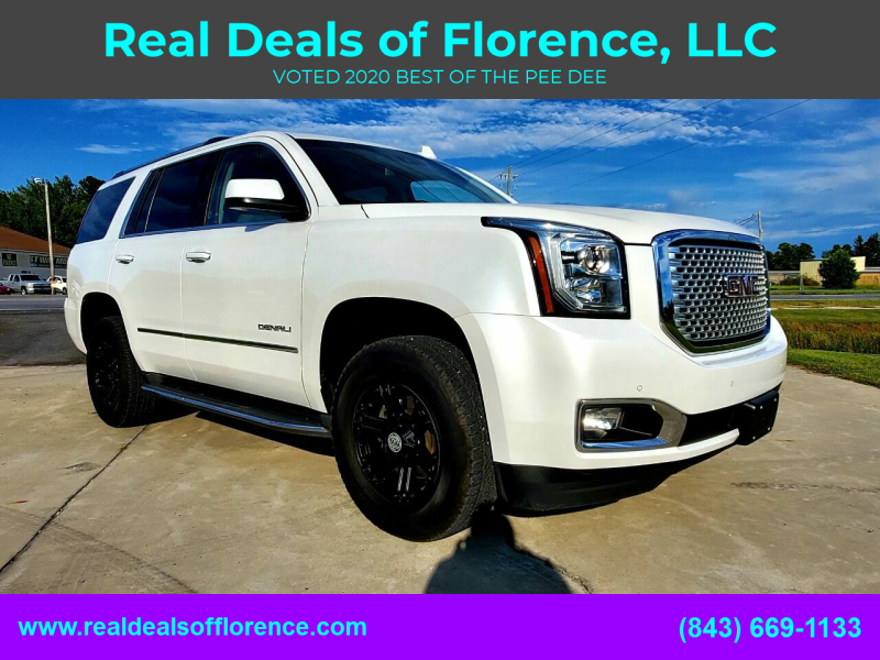 2016 GMC Yukon for sale at Real Deals of Florence, LLC in Effingham SC