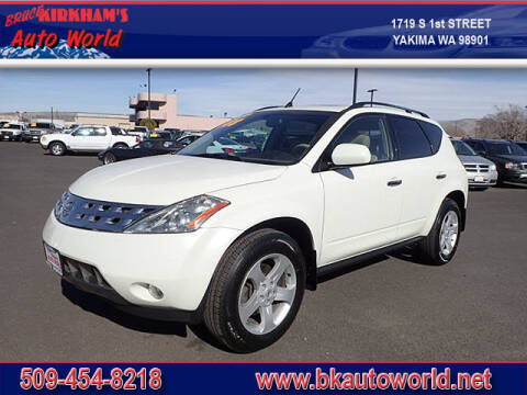 2003 Nissan Murano for sale at Bruce Kirkham Auto World in Yakima WA