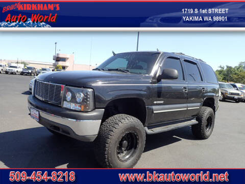 2002 Chevrolet Tahoe for sale at Bruce Kirkham Auto World in Yakima WA