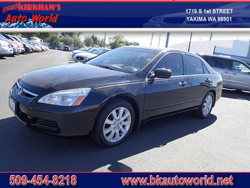 2007 Honda Accord for sale at Bruce Kirkham Auto World in Yakima WA