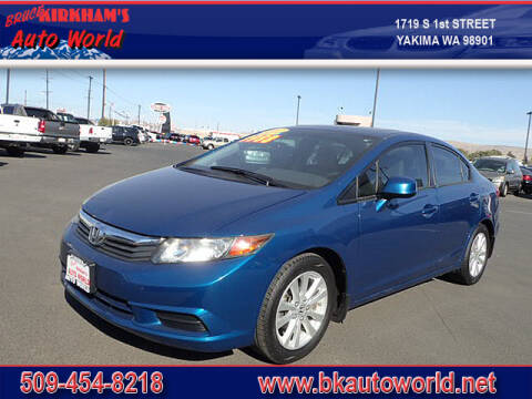 2012 Honda Civic for sale at Bruce Kirkham Auto World in Yakima WA